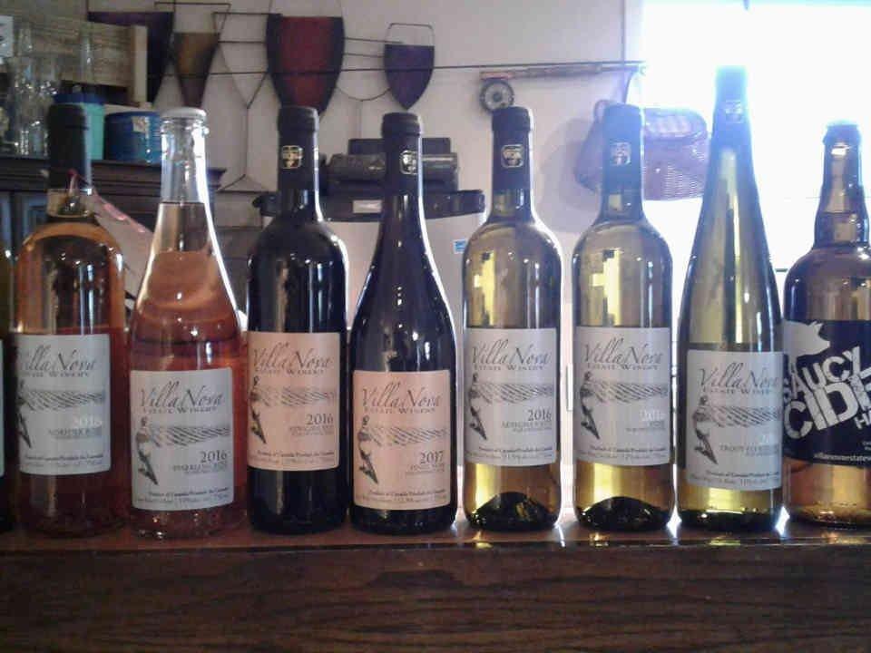Vignoble bouteilles de vin Villa Nova Estate Winery Simcoe Ulocal produit local achat local