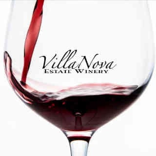 Vineyard glass of wine logo Villa Nova Estate Winery Simcoe Ulocal Local Product Local Purchase