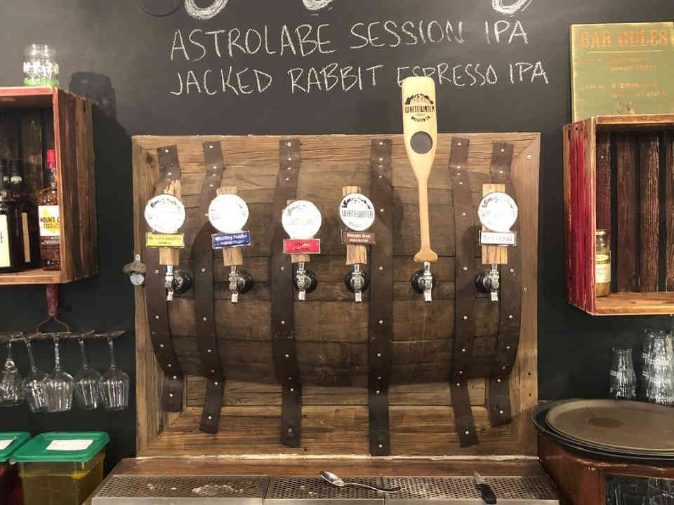 Microbrewery beer on tap Whitewater Brewing Company Foresters Falls Ulocal local product local purchase