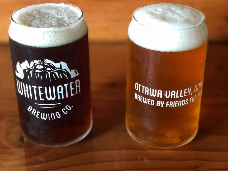 Microbrewery glasses of beer Whitewater Brewing Company Foresters Falls Ulocal local product local purchase