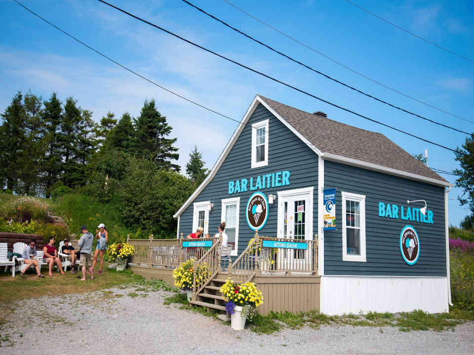 Dairy bar food Ice cream at Anse Cap-d'Espoir Ulocal local product local purchase