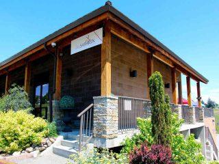 Restaurant vinicole nourriture batisse Blu safran bistro Kelowna ulocal produit local achat local