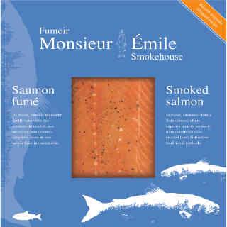 Saumon atlantique alimentation Fumoir Monsieur Émile Percé Québec Canada Ulocal produit terroir produit local achat local