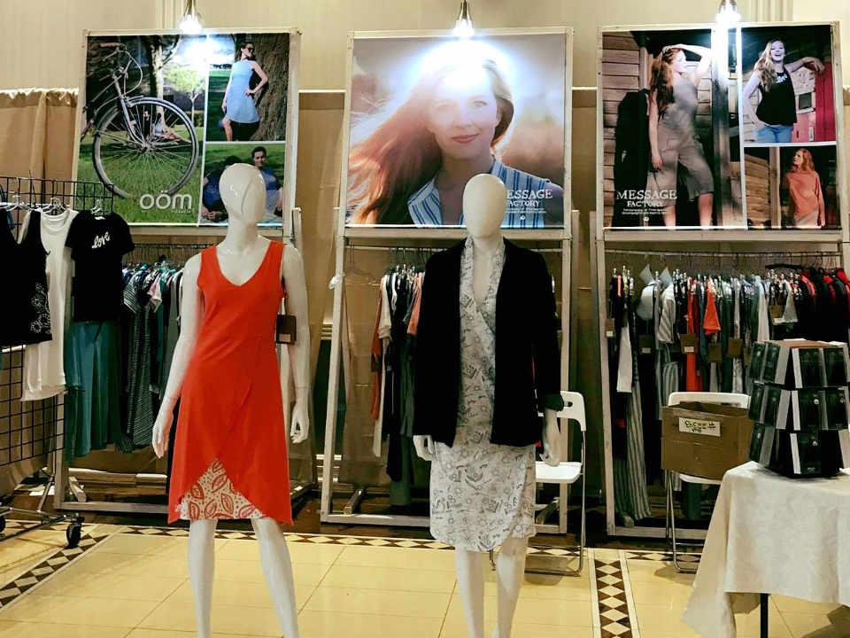 Vêtements faits au Québec réagir ou mourir Boutique vêtements homme et femme Message Factory Saint-Jean-sur-Richelieu Ulocal achat local produit local locavore touriste