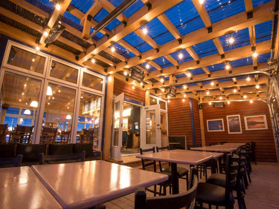 Restaurant bistro Bistro-bar de Valmont plein airCap-Chat-Est Ulocal produit local achat local