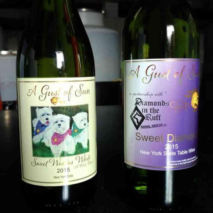 Vignoble bouteilles de vin A Gust of Sun Winery & Vineyard Ransomville New York États-Unis Ulocal produit local achat local