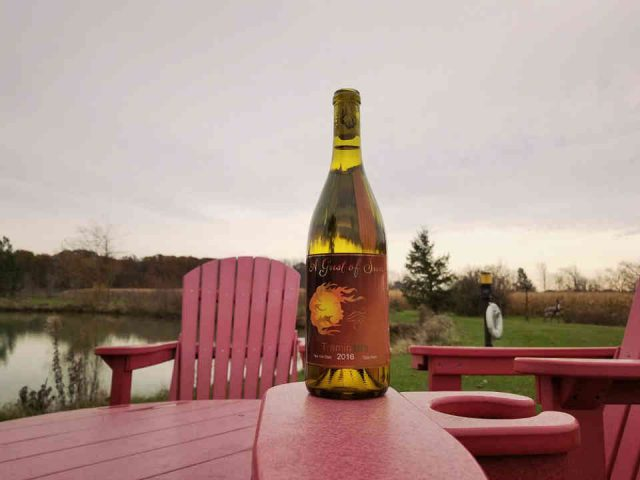 Vignoble bouteille de vin A Gust of Sun Winery & Vineyard Ransomville New York États-Unis Ulocal produit local achat local