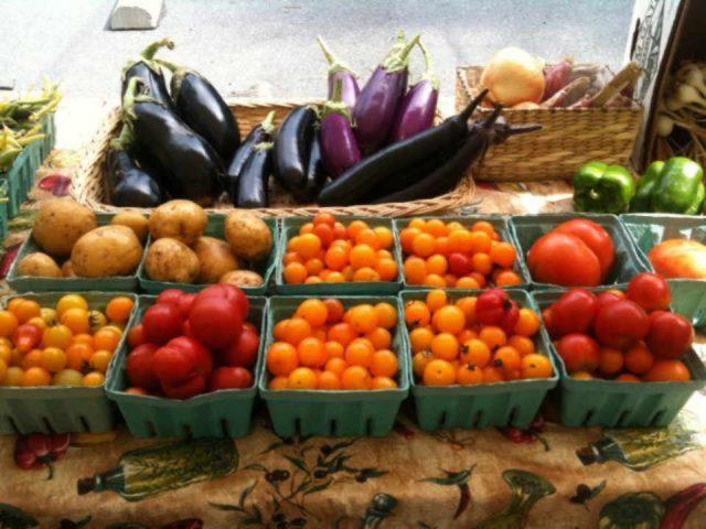 Fermier de famille tomates pommes de terre aubergines Bare Foot Organics Lebanon Pennsylvania États-Unis Ulocal produit local achat local