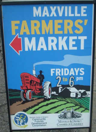 Public Market sign Maxville Farmers' Market Maxville Ontario Canada Ulocal Local Product Local Purchase