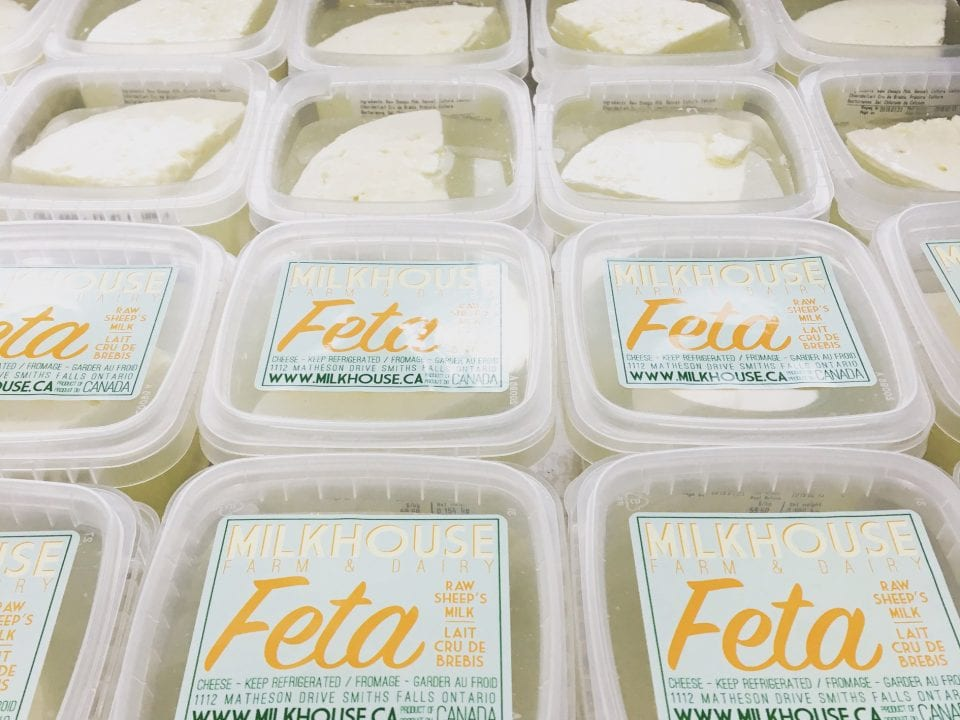 Fromagerie fromage feta Milkhouse Farm & Dairy Smiths Falls Ontario Canada Ulocal produit local achat local