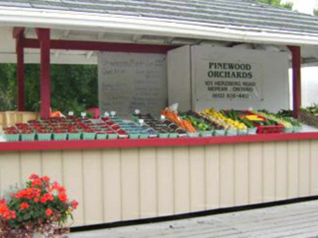 Produce Market Fruit and Vegetable Kiosks Pinewood Orchards Ottawa Ontario Canada Ulocal Local Product Local Purchase