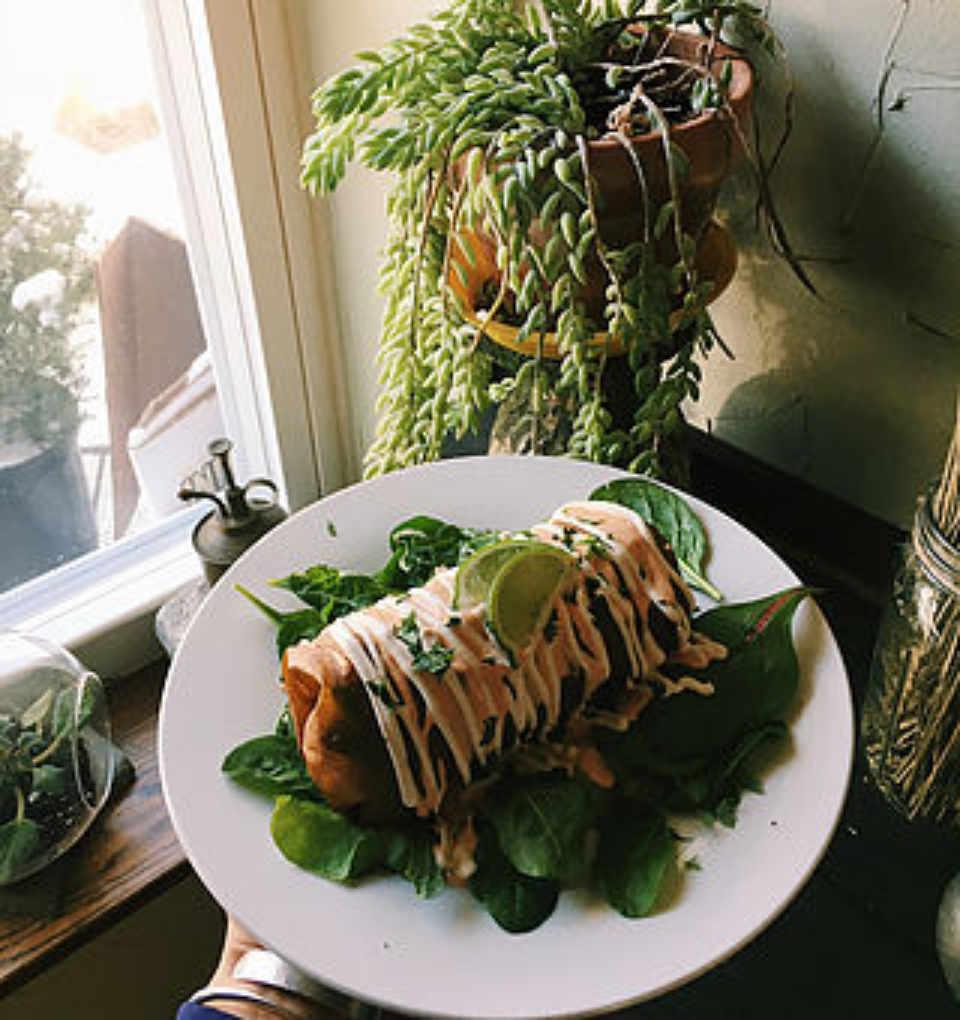 Restaurant assiette végé Roots Café Northvale New Jersey États-Unis Ulocal produit local achat local