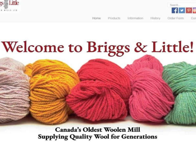 boutique Laine Briggs & Little Woolen Mills Ltd. Harvey New Brunswick Ulocal produits local achat local