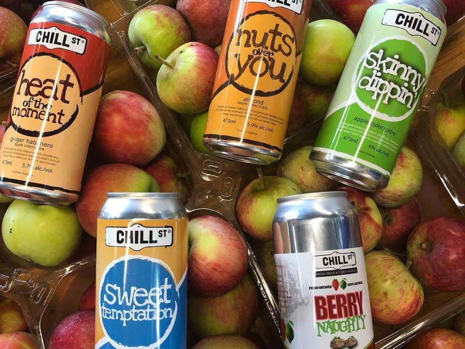 microbrasseries pommes cidre sans alcool chill st fresh beer and cider market Elmsdale nouvelle-écosse canada ulocal produits locaux achat local produits du terroir locavore touriste