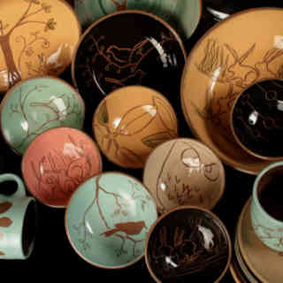 Pottery craftsmen handmade Denise MacLean Pottery Harvey New Brunswick Ulocal local product local purchase