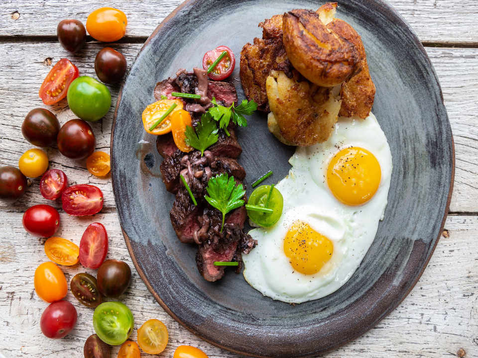 restaurant food plate with eggs and fruits edible canada vancouver bristish columbia canada ulocal local product buy local locavore tourist