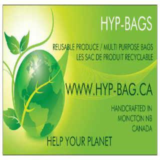 Artisans sacs réutilisables HYP Bags Moncton NB Canada Ulocal produit local achat local