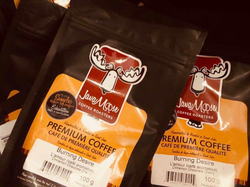 Café Java Moose Coffee Roasters Saint John Nouveau-Brunswick Canada Ulocal produit local achat local