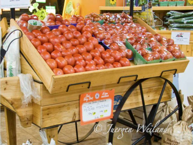 Organic Vegetables M. Tomato Rogersville New Brunswick Ulocal Local Product Local Product Local Product