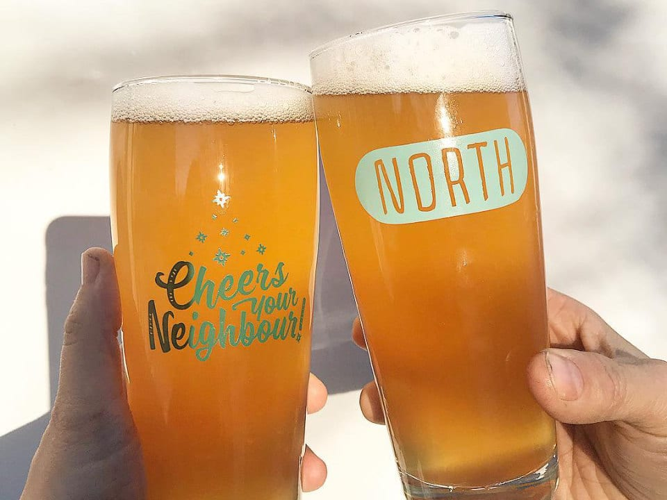 microbreweries two glasses blond beer north brewing co dartmouth nova scotia canada ulocal local products local purchase local produce locavore tourist
