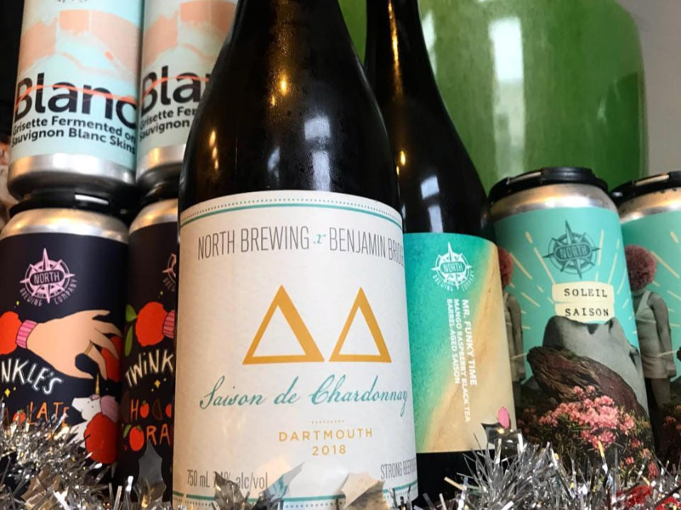 microbreweries cans bottle beer saison de chardonnay north brewing co dartmouth nova scotia canada ulocal local products local purchase local produce locavore tourist