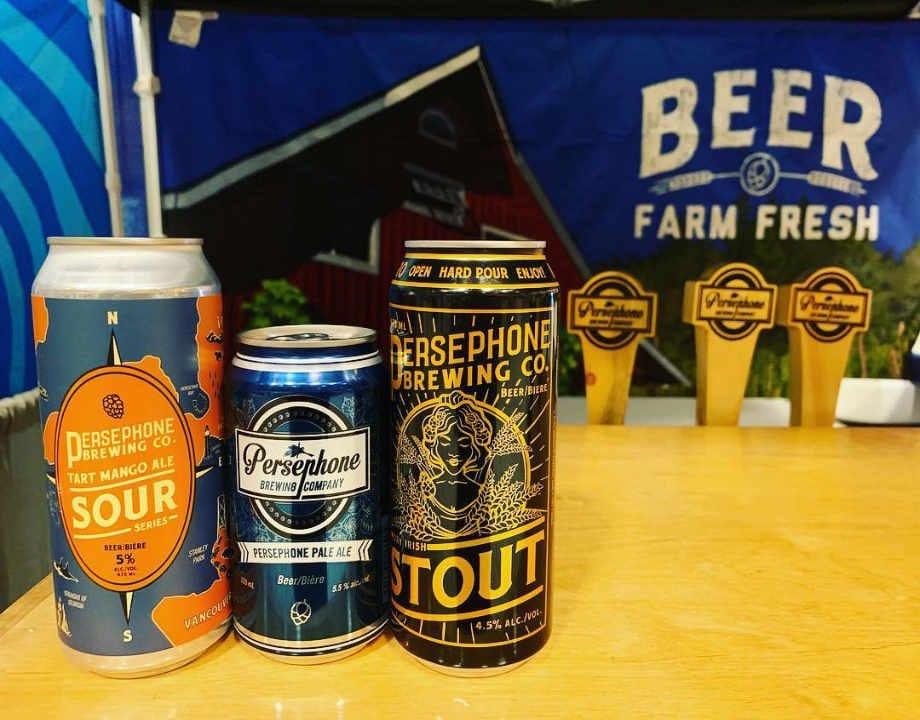 brasserie ferme de famille alcool vin bière logo persephone brewing company Gibsons Colombie-Britannique canada ulocal produit local acheter local locavore tourist