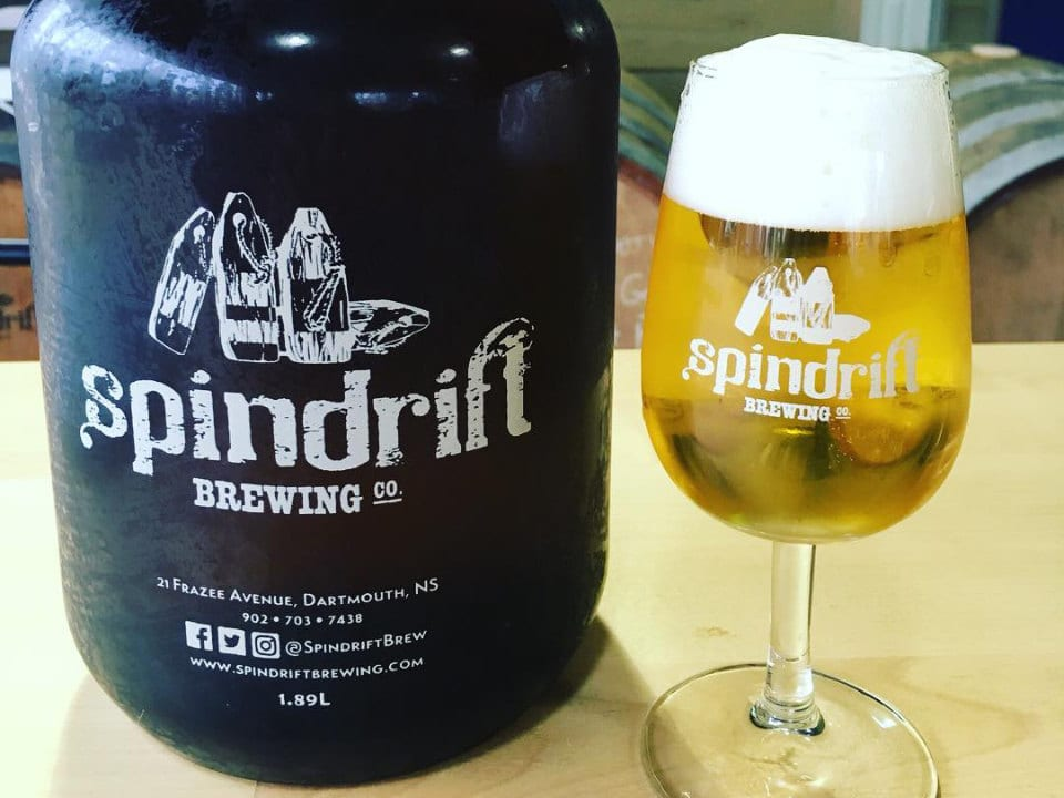 microbreweries bottle and glass blond beer draft spindrift brewing co dartmouth nova scotia canada ulocal local products local purchase local produce locavore tourist