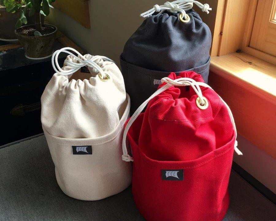 Artisans Sacs à bagages Toile Topsail Mascarene Nouveau-Brunswick Ulocal Produit local Achat local