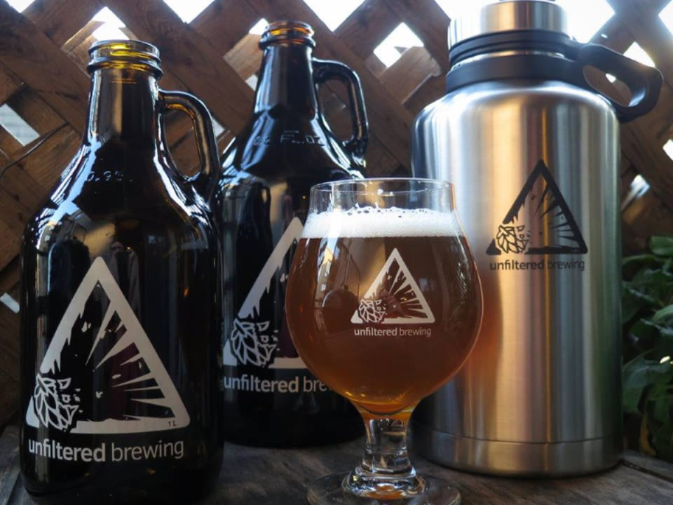 microbreweries beer black and white red beer stainless thermos unfiltered brewing halifiax nova scotia canada ulocal local products local purchase local produce locavore tourist