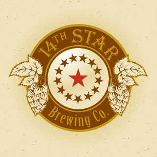 Microbrewery logo 14th Star Brewing Co. St Albans. City Vermont United States Ulocal Local Product Local Purchase