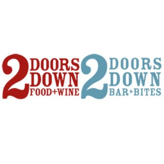 restaurant logo 2 doors down food and wine halifiax nova scotia canada ulocal local products local purchase local produce locavore tourist