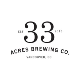 microbrasseries logo 33 acres brewing company vancouver colombie britannique canada ulocal produits locaux achat local produits du terroir locavore touriste