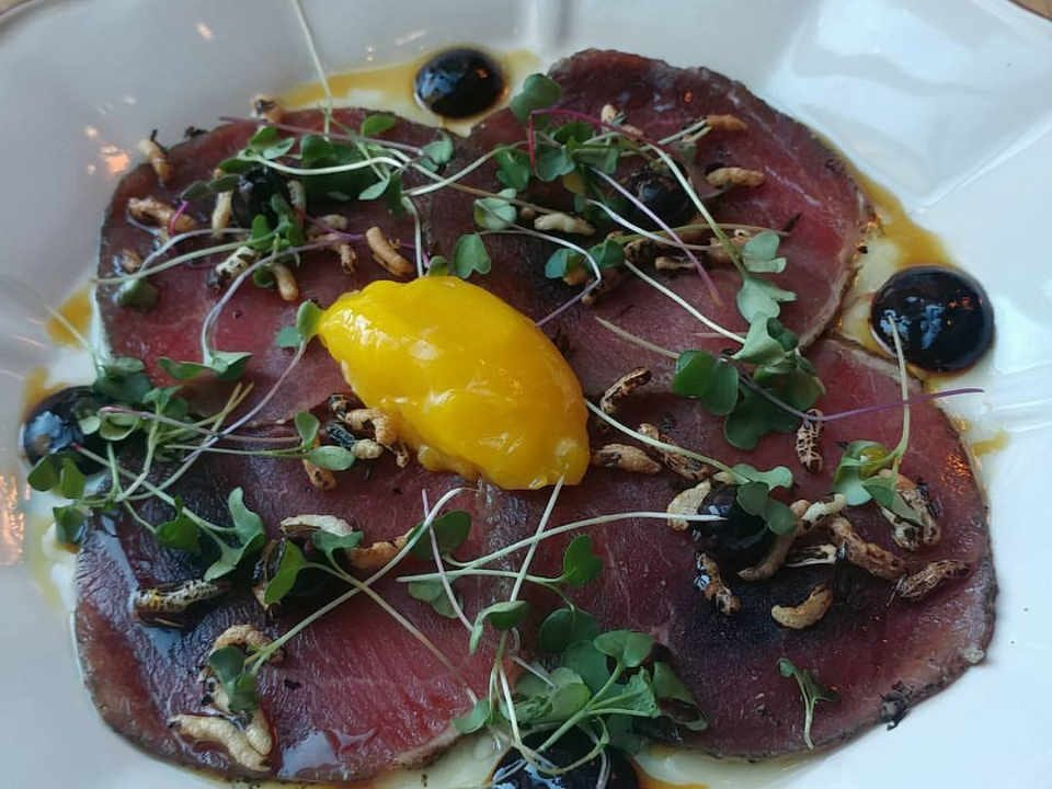Restaurant plat de carpaccio The Albion Rooms Ottawa Ontario Canada Ulocal produit local achat local