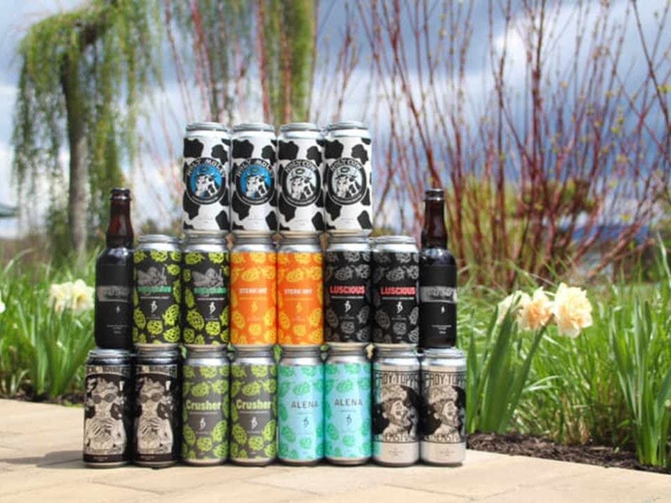 Microbrewery beer cans The Alchemist Brewery Stowe Vermont United States Ulocal Local Product Local Purchase