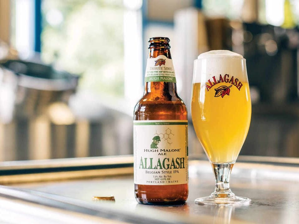 Microbrewery Bottle and Beer Glass Allagash Brewing Company Portland Maine United States Ulocal Local Product Local Purchase