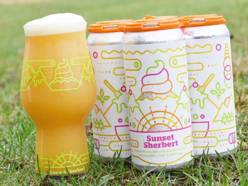 Microbrasserie canettes de bière Burlington Beer Company Williston Vermont États-Unis Ulocal produit local achat local