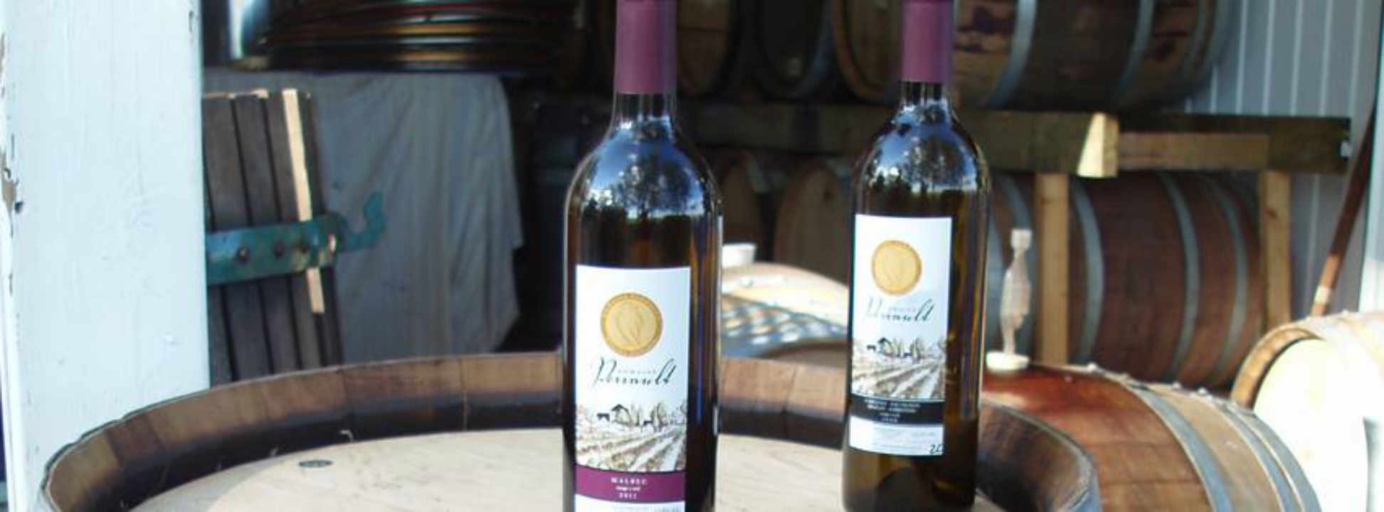 Vineyard wine bottles Domaine Perrault Winery Ottawa Ontario Canada Ulocal local product local purchase