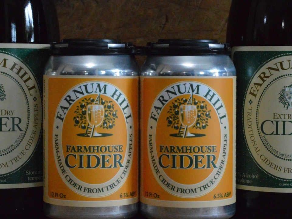 Liquor cider cans Farnum Hill Cider Lebanon New Hampshire United States Ulocal Local Product Local Purchase
