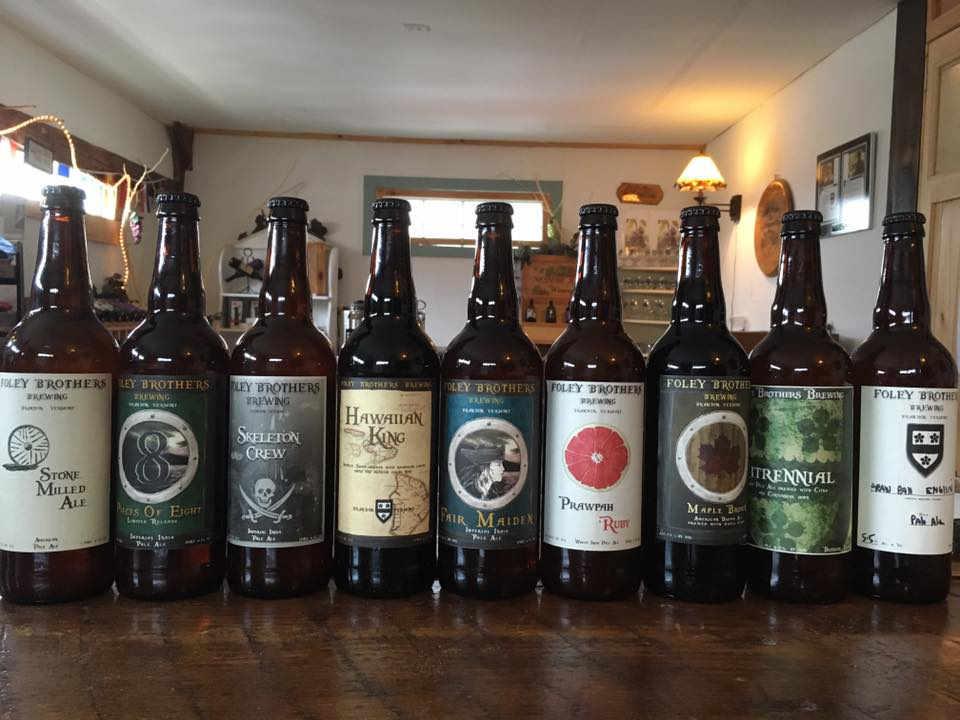 Microbrasserie Bouteilles de bière Foley Brothers Brewing Brandon Vermont États-Unis Ulocal produit local achat local
