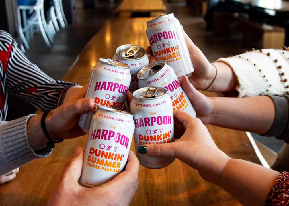 Microbrewery beer cans Harpoon Brewery Boston Massachusetts United States Ulocal local product local purchase