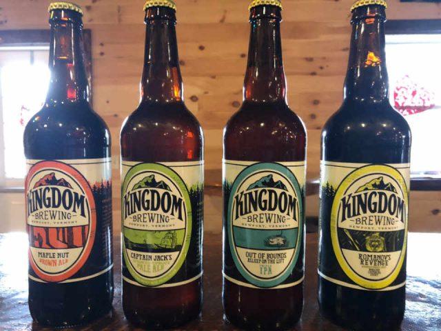 Microbrasserie bouteilles de bière Kingdom Brewing Newport Vermont États-Unis Ulocal produit local achat local