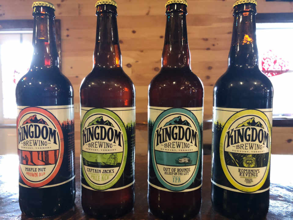 Microbrewery beer bottles Kingdom Brewing Newport Vermont United States Ulocal Local Product Local Purchase