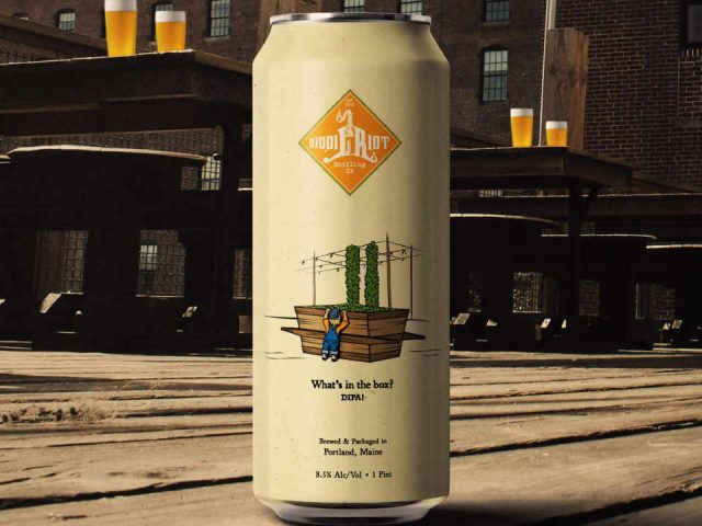 Microbrewery Beer Can Liquid Riot Bottling Company Portland Maine United States Ulocal Local Product Local Purchase