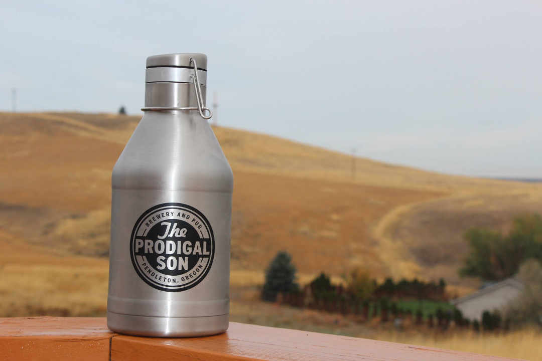 Microbrewery growler beer The Prodigal Son Brewery and Pub Pendleton Oregon United States Ulocal local product local purchase