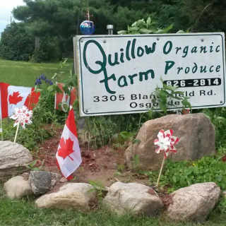 Produce Market Sign Quillow Farm Ottawa Ontario Canada Ulocal Local Product Local Purchase