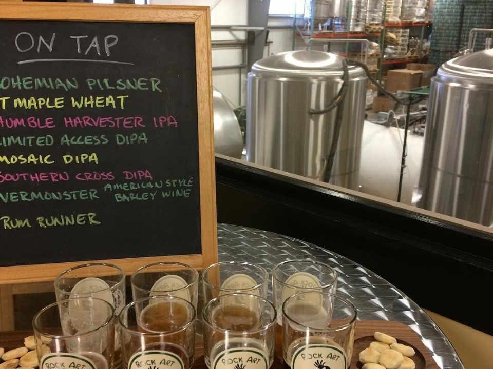 Microbrasserie verres de bière Rock Art Brewery Morristown Vermont États-Unis Ulocal produit local achat local