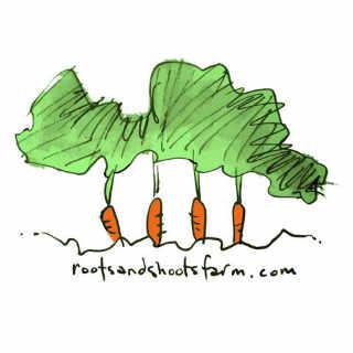 Fermier de famille logo Roots and Shoots Farm Alcove Québec Canada Ulocal produit local achat local