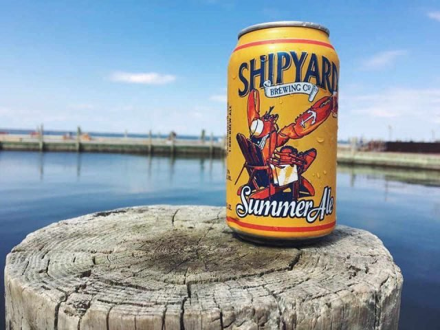 Microbrewery beer can Shipyard Brewing Company Portland Maine United States Ulocal Local Product Local Purchase
