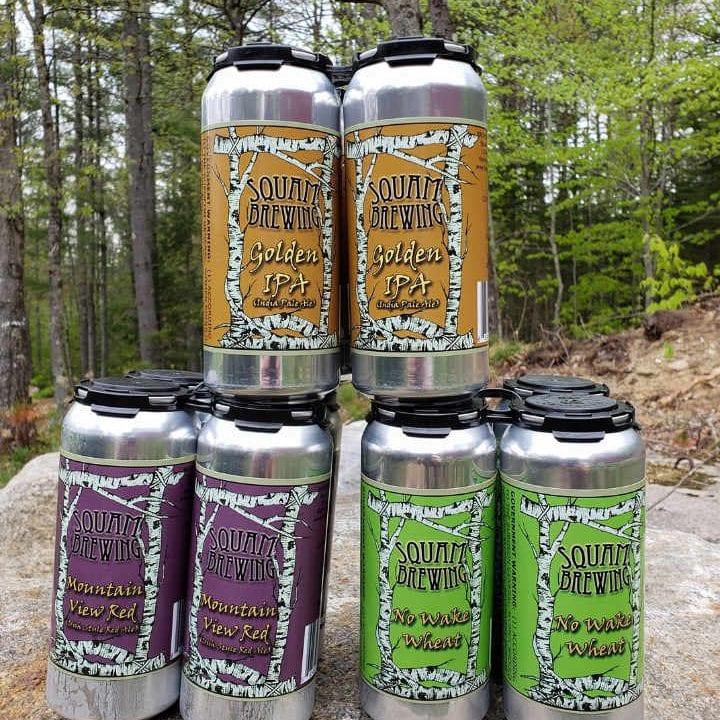 Microbrasserie canettes de bière Squam Brewing Holderness New Hampshire États-Unis Ulocal produit local achat local