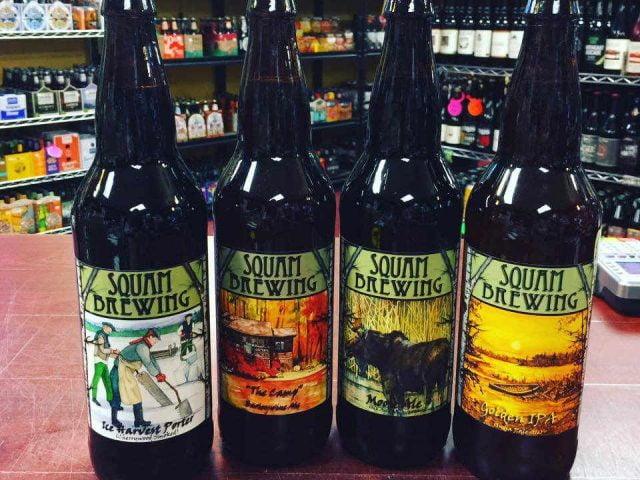 Microbrasserie bouteilles de bière Squam Brewing Holderness New Hampshire États-Unis Ulocal produit local achat local